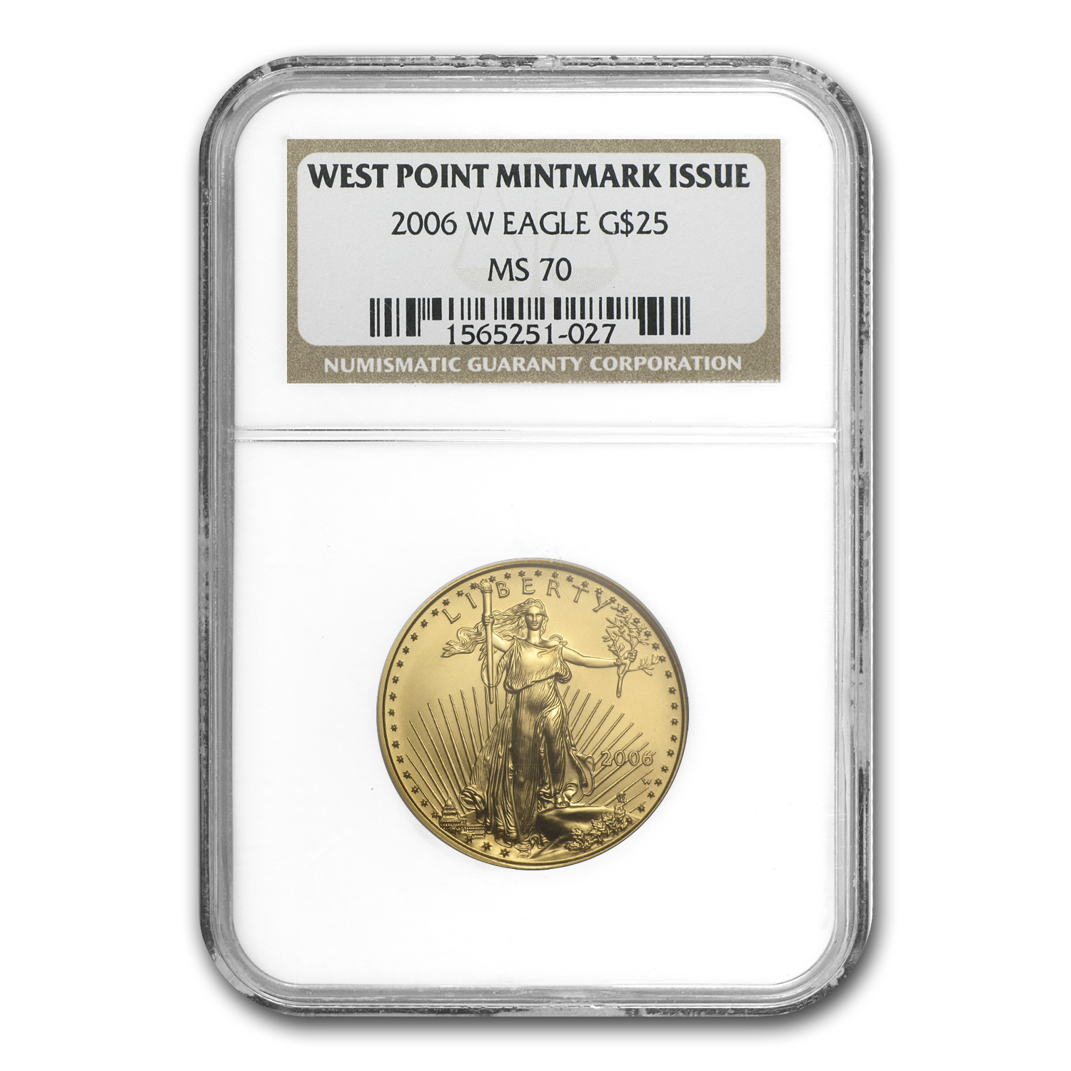 2006-W 1/2 oz Burnished Gold American Eagle MS-70 NGC